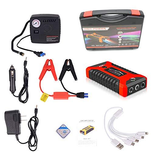 12V 600A LED Auto-Starthilfe, tragbares Notladegerät Batterie Power Bank Auto-Booster-Startgerät Wasserdicht, für sofortige Stromversorgung des Auto-SUV-Motorrads