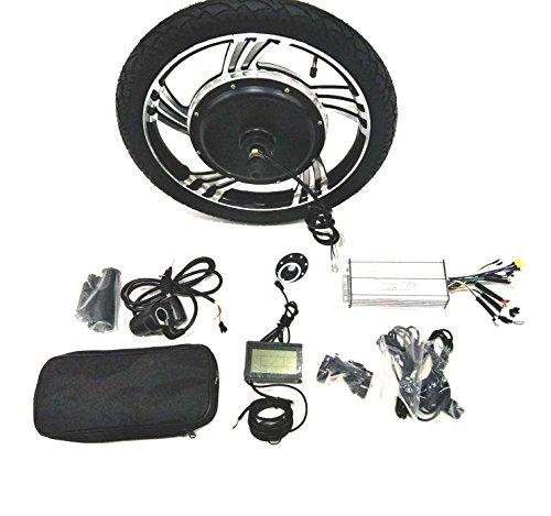 theebikemotor 16' 18' Casted Wheel 48V1000/36V750W/24V500W Hub Motor Ebike Bicicleta ELÉCTRICA Kit DE CONVERSIÓN + LCD + Tire (48V1000W, 16' Rear Wheel + Shimano Disc Brake)