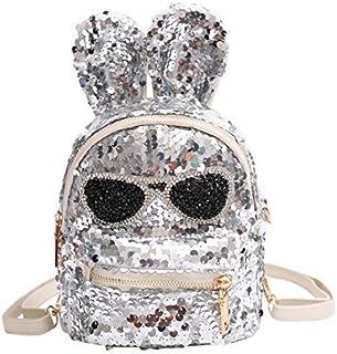 Backpack Womens, Ladies Backpacks for Women Rucksack Waterproof Anti-Theft Daypack Travel School (Color : Silver)