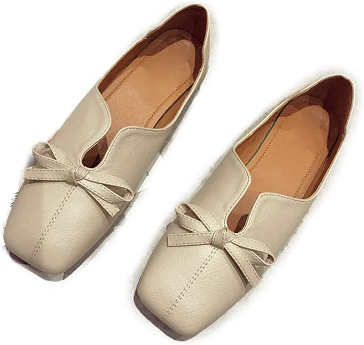 Phil Betty Women Flats shoes Square Toe Soft Soles Slip-On Solid color Comfort Flats shoes