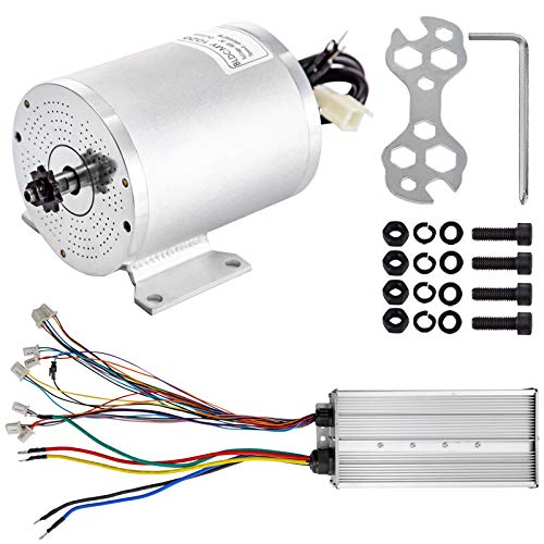 BestEquip 3000W 60V Brushless Motor 4800RPM High Speed Electric Scooter Motor with Mounting Bracket and Speed Controller for Mini Bike Quad and Go-Kart