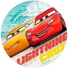Dekora - Decoracion Tartas de Cumpleaños Infantiles en Disco de Oblea de Disney Pixar Cars - 20 cm