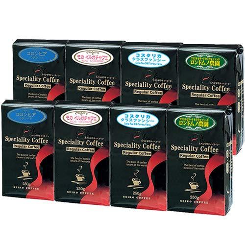 CAFE工房(カフェ工房)【福袋】スペシャルティコーヒー【 豆 】極上 レギュラーコーヒー セット 2kg(ブラジル モカ コスタリカ コロンビア 各250g×2)