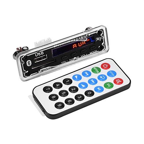 MP3 WMA Decoder Board Audio Wireless Bluetooth 4.2 Module 12V, USB/SD Card/Bluetooth/FM Switching Support