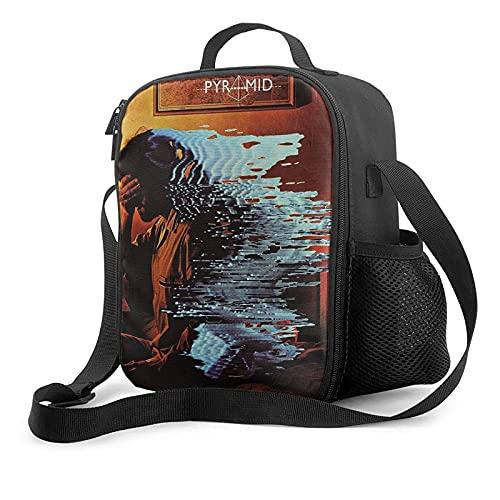 NIUPEE Alan Parsons Project - Bolsa de almuerzo aislada reutilizable a prueba de fugas, bolsa impermeable con correa ajustable para el hombro para oficina, trabajo, picnic, playa