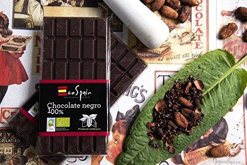 Chocolat noir 100% cacao biologique sans sucre. Cacao pur. Produit bio. 100 gr
