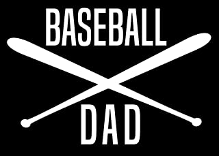 Creative Concepts Ideas Baseball Dad with Bats CCI Decal Vinyl Sticker|Cars Trucks Vans Walls Laptop|White|5.6 x 3.8 in|CCI2351