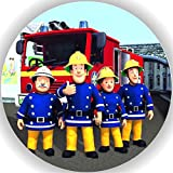 Fondant Tortenaufleger Tortenbild Geburtstag Feuerwehrmann Sam AMA2