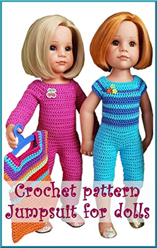 Crochet pattern jumpsuit for 18-inch dolls (English Edition)