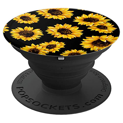 Sunflowers Yellow Pattern Phone Popper PopSockets Grip and Stand for Phones and Tablets