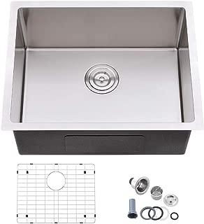 Bokaiya 23'' x 18'' Kitchen Sink 16 Gauge Undermount Single Bowl Stainless Steel Kitchen Sink, Bar or Prep Kitchen Sink