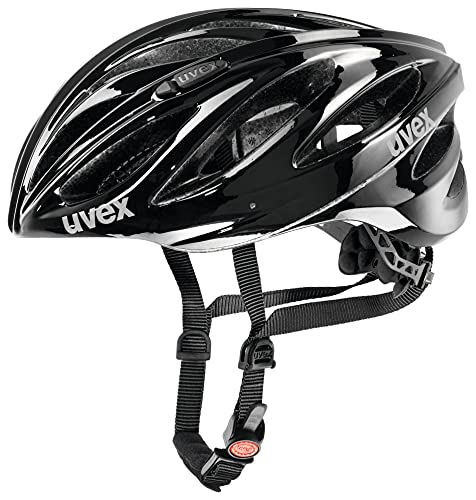 Uvex Boss Race Casco de Ciclismo, Unisex Adulto, Black, 55-60 cm
