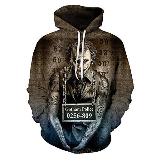 Joker Hoodie Unisex Pullover Inverse Hero Herren/Damen Sweatshirt 3D Print Casual Sweater Vintage T-Shirt