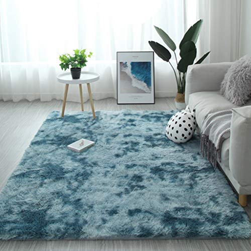 YUANBIAO Rugs Living Room 180x180cm Polyester Large Rugs Anti Slip For Home Decor Bedroom Dormitory, Navy Blue