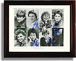 Framed Cast of The Goonies Autograph Replica Print - The Goonies