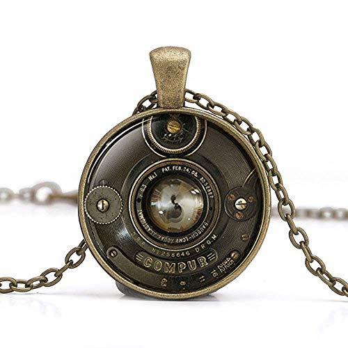 Vintage Kamera Anhänger, Kamera Objektiv Halskette, Kamera Objektiv Anhänger, Fotografen Jewelry Fotografie Geschenk, alte Kamera, Halskette für Herren