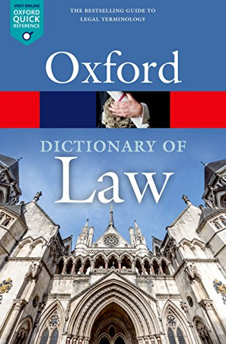 A Dictionary of Law (Oxford Quick Reference) (English Edition)