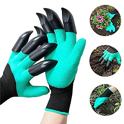 SYLHLW Garden Gloves with Claws, 2 Pairs Waterp...