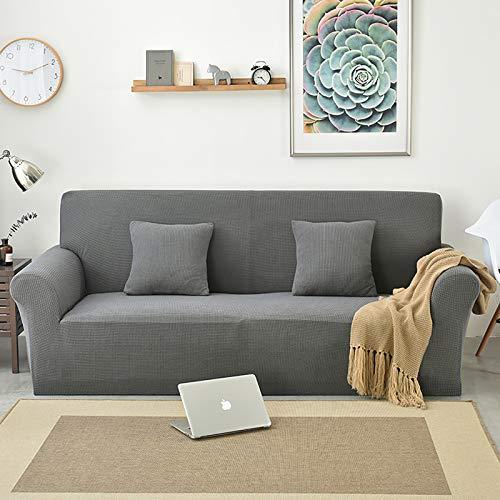Homefurnishing Stretch Sofabezug Spandex Sofaüberzug Elastisch, rutschfest, Abwaschbar(Grau,2 Sitzer)