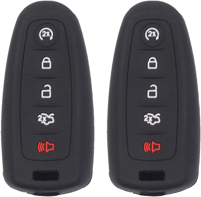 Finally resale start Same day shipping Btopars 2pcs 5 Buttons Black Smart P Fob Key Silicone Cover Case