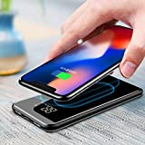 30000mah Power Bank Wireless Charger for iPhone Samsung External Battery Bank Built-in Qi...