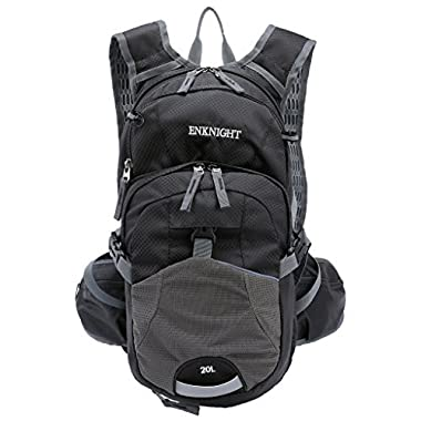 ENKNIGHT 20L Hydration Pack Waterproof Cycling Backpack Black