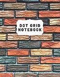 Brick Background Colorful Design Bullet Journal Notebook 8.5 x 11 Bullet Journal: Dot Grid Journal Notebook Bullet Journal Kit