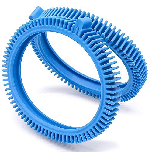 Find Discount Romalon 896584000-143 Pool Cleaner Front Tire with Humps 2 Pack for Poolvergnuegen Poo...