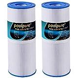 POOLPURE 2X Filtros de SPA para bañera de hidromasaje Unicel c4950 / C-4950 Reemplazo del Cartucho de SPA de 50 'para Pleatco PRB501N para spas Arctic, Beachcomber, Canadian, Hydropool & Jacuzzi
