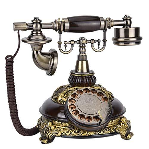 HAOJON Telefono Cellulare retrò codice Dorato/quadrante Girevole del Telefono Vecchio Stile, Forniture per la Decorazione dell'ufficio Domestico