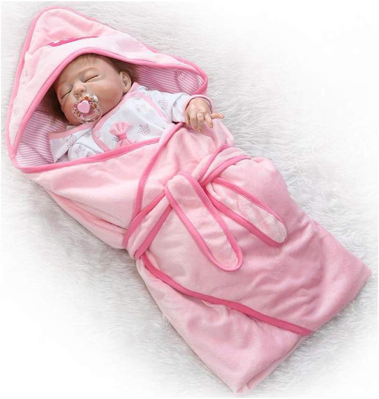 IIWOJ Reborn Doll Baby Girl 22.44 Zoll Silikon-Neugeborene lebensähnliche Cute Kid es Unisex Girls ' Gift Parent-Kind-Interaktion B07M8WPZYG Schönes Design  | Neuankömmling