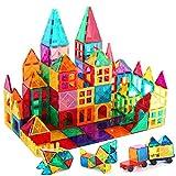 Kids Magnetic Tiles Toys, 100Pcs 3D Magnetic Building Blocks Tiles Set, Building Construction Educational STEM Toys for 3+ Year Old Boys and Girls