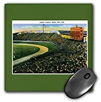 3dRose Mouse Pad Yankee Stadium, Bronx, New York City Vintage Postcard Reproduction - 8 by 8-Inches (mp_170363_1) [並行輸入品]