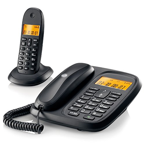 YSNUK Submarina de teléfono inalámbrico Subestación de teléfono inalámbrico de la Oficina uno por uno Teléfono rotatorio (Color : A)
