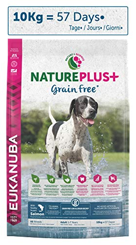 avis croquette pour chien sans cereales professionnel Croquette Eukanuba sans grains Toutes races de chiens adultes saumon frais sans grains – Recette…