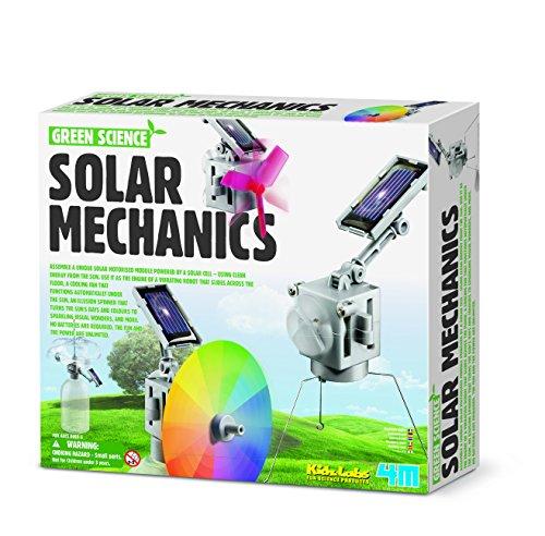 4M Green Science Solar Mechanics - Kit de fabrication d'un module à panneau solaire - Énergie verte - Version Anglaise