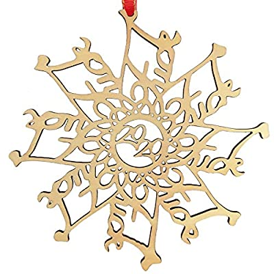 Veiai 2020 Snowflake Ornament, Xmas Tree Decoration Pendant for Home Decor (Ornament-06)