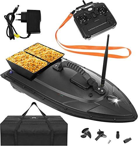 Mdcgok Futterboot Angeln Ferngesteuertes Boot Fischköder Boot 1-2 kg Beladung 300-500m Fernbedienung 9775 Größe:1000g
