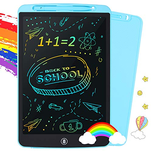 LCD Writing Tablet, Toddler Toys for 3 4 5 6 7 Years Old Boy Girls, 12 Inch Colorful Doodle Board Drawing Pads for Kids, Learning Educational Drawing Tablet Birthday Gift Toys for 4 Year Old Boys
