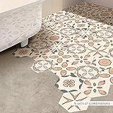 Funlife Baño Pavimento Decorativo Pegatina de Azulejos Etiquetas Autoadhesivas Azulejos for la Cocina del azulejo de Suelo Impermeable Etiqueta de la Pared Decal (Size : 100 Pieces (4.6sqm))