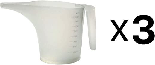 Norpro New Measuring Funnel Pancake Batter Pitcher, 3.5-Cup/28oz/900ml (3-Pack)