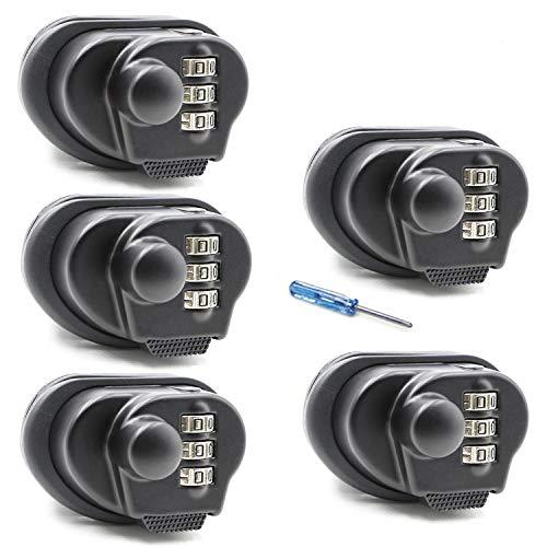 Trigger Lock 3 Digit Combination Gun Lock 5 Pack Fits Pistols Hand Gun Rifles Bb Gun Shotguns (5PCS)