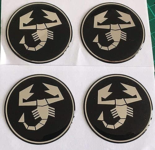 4 Piezas Coche Tapas Rueda Centro Tapacubos para Fiat Abarth Punto 500 Ducato Palio Bravo, Prueba Polvo Repuesto Accesorios