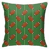 Klotr Taie d'oreiller décorative Motif ballon de football de rugby 45,7 x 45,7 cm