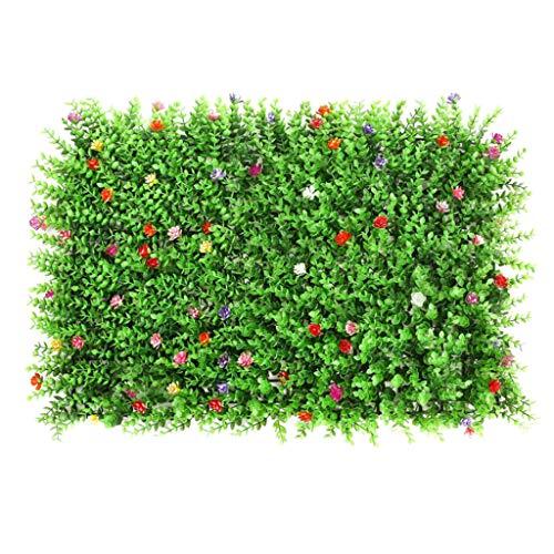 joyMerit Künstliches Gras DIY Miniatur Rasen, Garten Verzierung, Auswählbar - Rasen mit Blume