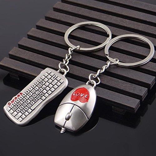 Gaddrt Souris et clavier modèle porte-clés en plein air trousseau pendentif porte-clés cadeau, 1pc
