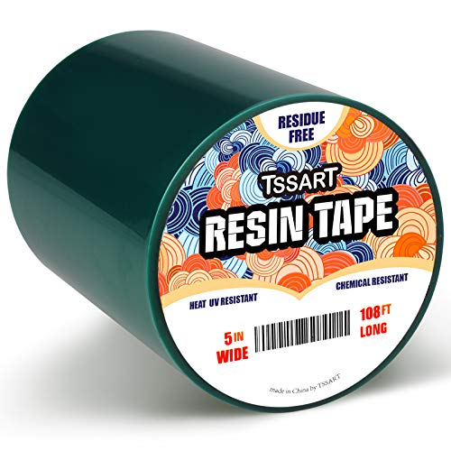 TSSART Resin Tape for Epoxy Resin Molding - Thermal Silicone Adhesive Tape, Oxidation and High Temperature Resistance Easy Peeling, Epoxy Release Tape for River Tables - 5 inch Wide 108FT Long