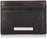 Armani Exchange Credit Card Holder, Portefeuilles homme, Marron (Dark Brown), 7.6x1x10 cm (B x H T)