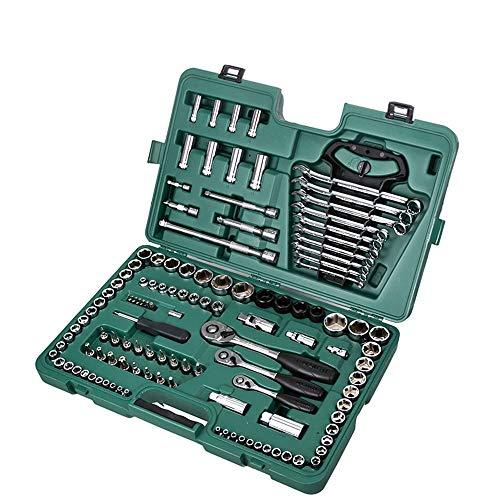 HOODIE Gemischtes Werkzeugset, 120-Teilig - Chrom Poliert Mechanik- Haushaltswerkzeugset Mit Werkzeugkoffer Männer Frauen, Kombinationsset Werkzeugkoffer Zur Reparatur Von Werkzeugen