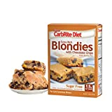 SUGAR FREE - Only 1.5g Net carbs per serving makes CarbRite Blondie Mix perfect for any low carb or keto diet DELICIOUS DESSERT - Make one batch and you have grab and go delicious blonde brownies with chocolate chips EASY TO MAKE - Just add 3 eggs, a...